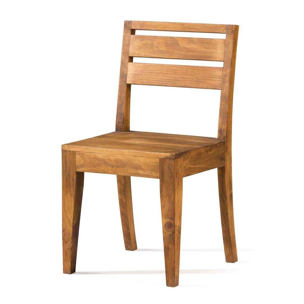 Silla r stica asiento de madera de pino macizo de calidad - Sillas rusticas ...