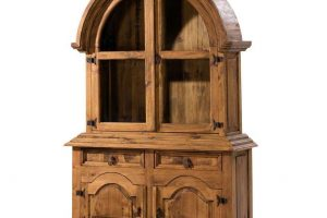 vitrina rústica de madera redondeado