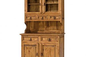 vitrina de madera estilo rustico