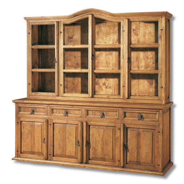 vitrina de madera rústica grande
