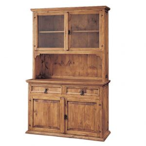 vitrina de madera rústica