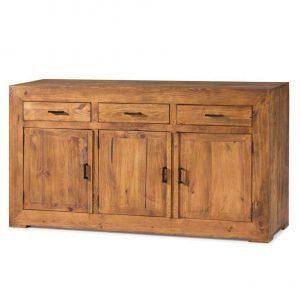 cómoda de madera rústica