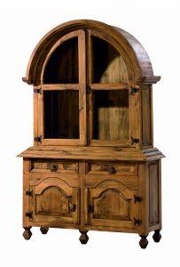 vitrina madera estilo clasico