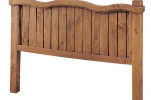 cabecero madera rustico