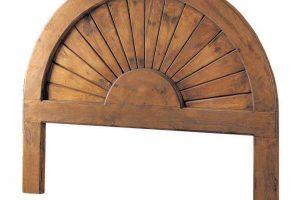cabecero madera rustico y colonial
