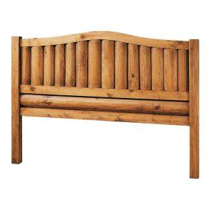 cabecero de madera de troncos