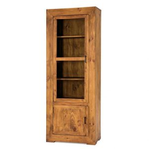 vitrina de madera rustica vertical