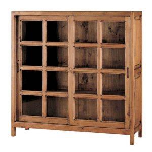 vitrina de madera rustica