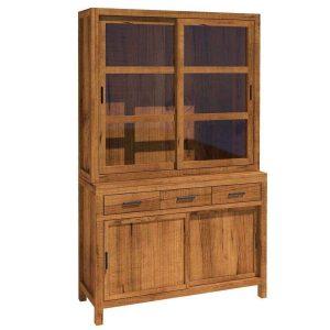 vitrina rustica clasica madera maciza