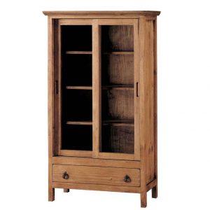 vitrina rustica madera