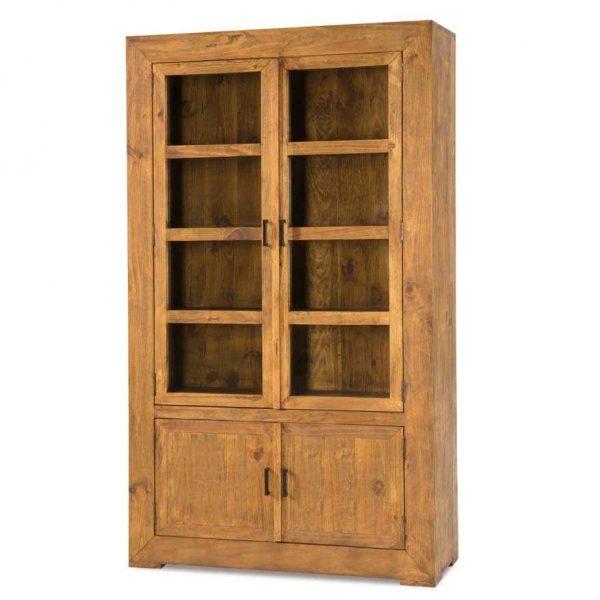 vitrina rustica madera maciza