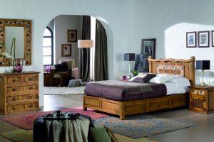 dormitorio de madera estilo clasico