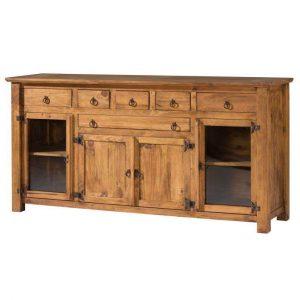 comoda rustica madera 6 cajones y 4 puertas