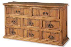 comoda rustica de madera horizontal