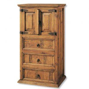 comoda de madera maciza puertas y cajones