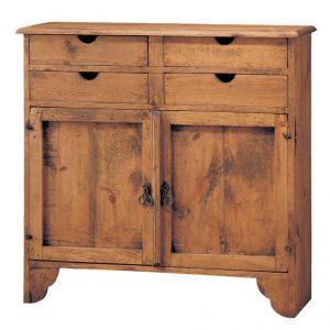comoda rustica madera puertas y cajones