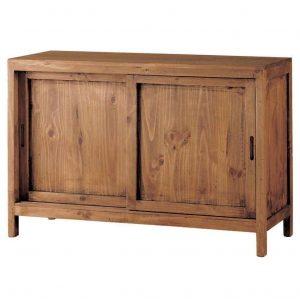 comoda madera rustica puertas correderas