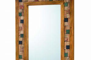 espejo de madera y marmol