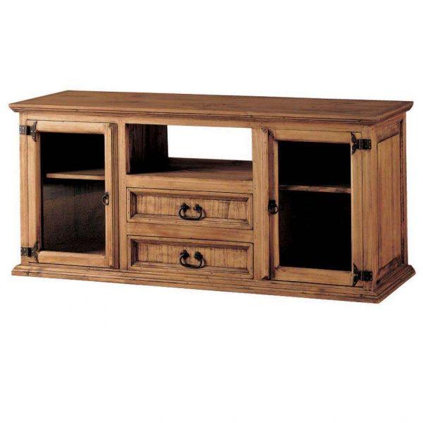comoda madera rustica cajones y puertas