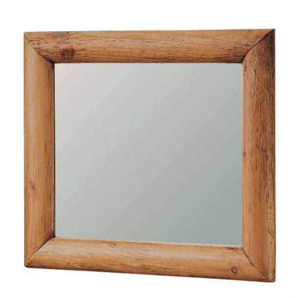 espejo madera de troncos