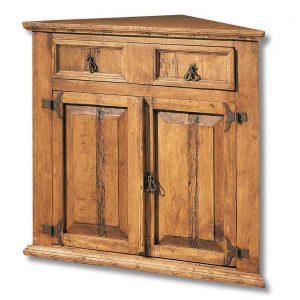 comoda de madera rustica esquinera