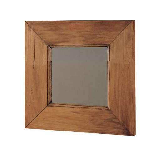 espejo de madera rustico cuadrado