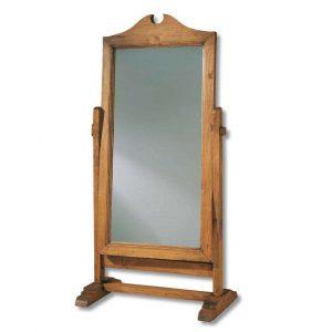 espejo de pie de madera rustica