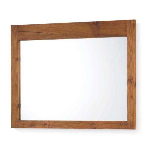 espejo madera rustica marco fino