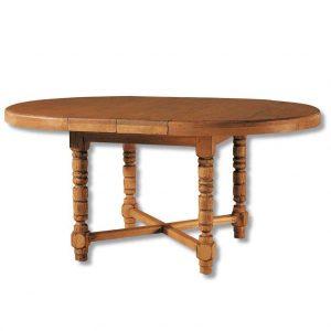 mesa comedor madera redonda extensible