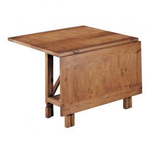 mesa comedor madera rustica extensible