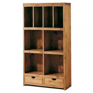 librero de madera maciza